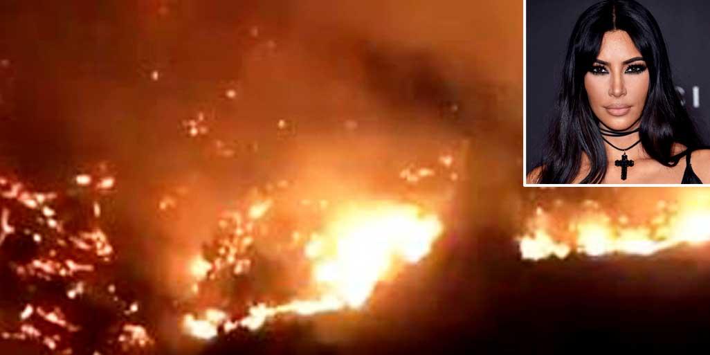 Kim Kardashian huye de su mansión de Los Ángeles por el voraz incendio que arrasa la zona