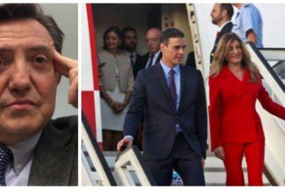 """Losantos criminaliza el postureo aberrante de Sánchez y señora: """"A ellos les da igual hacerse el selfie en Auschwitz que en el Gulag"""""""