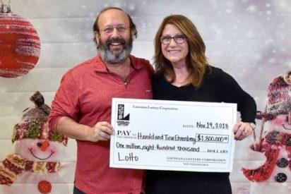 Una pareja encuentra un boleto de lotería y la suerte les acompaña: Ganaron 1,8 millones