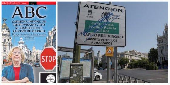 Carmena no aparca sus tics autoritarios y pone en marcha Madrid Central en medio del caos y de la imprevisión