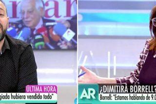 Ana Rosa despedaza al 'falso obrero' Antonio Maestre con un corte magistral por dárselas de pobrecillo por los 9.000 euros del mangoneo de Borrell