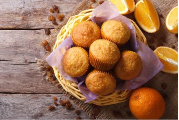 magdalenas de pueblo a la naranja
