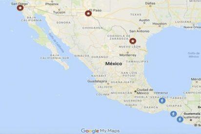 Mira el mapa interactivo que muestra el avance de las caravanas de inmigrantes hacia EEUU