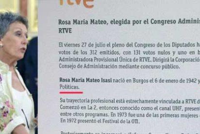 Rosa María Mateo, la elegida para 'limpiar' RTVE, se inventó su licenciatura en Ciencias Políticas