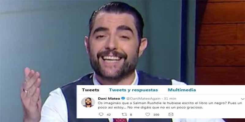 El mamarracho Dani Mateo la lía en Twitter comparando a los asesinos de la banda terrorista ETA con Franco