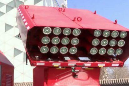 Así son los misiles extintores con los que apagarán en China los incendios en rascacielos