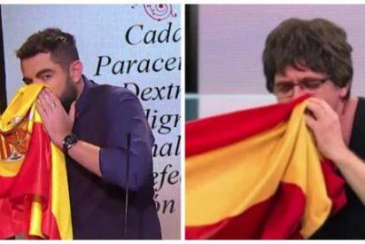 'El Intermedio' de Atresmedia copió la burla miserable de la bandera española... ¡de la TV3!