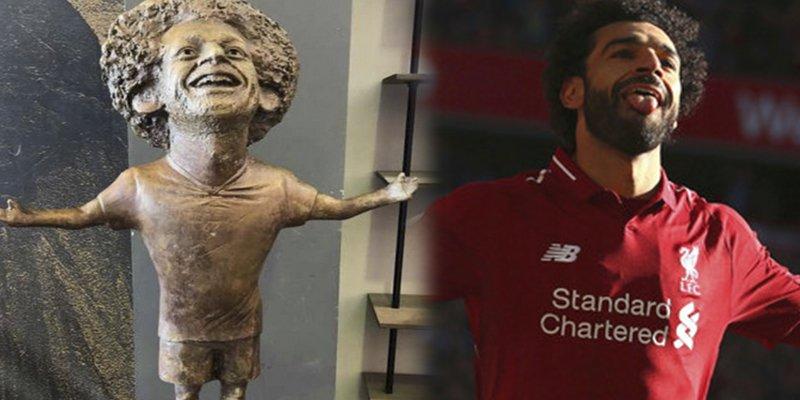 Inauguran esta irreconocible escultura de Mohamed Salah