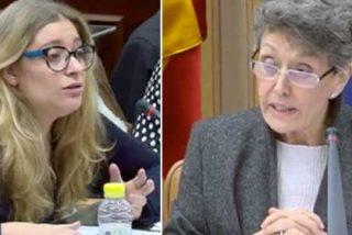 """Una senadora del PP arrincona a Rosa María Mateo: """"Puede reirse lo que quiera, pero yo tengo derecho a decirle a la cara que no está preparada para ejercer este cargo"""""""