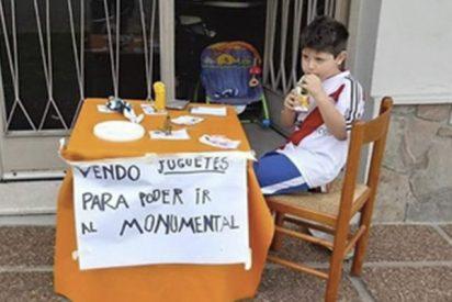 Este niño que vendía sus juguetes para asistir a la final de la Libertadores hace realidad su sueño
