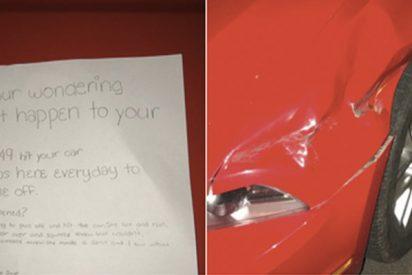 La nota que una niña dejó a un conductor para chivarse de quién había golpeado su coche se hace viral