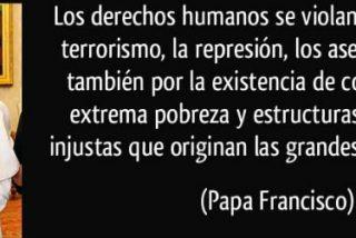 """Francisco recuerda que los Derechos Humanos son necesarios para """"favorecer el desarrollo integral"""""""