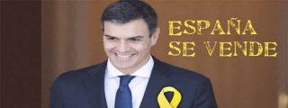 El socialista Pedro Sánchez se 'baja los pantalones' ante los golpistas catalanes