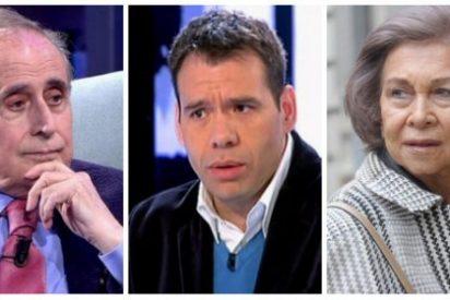 El dos por uno del rencoroso Jaime Peñafiel: sacude a Rubén Amón y deja como una insensible a la Reina Sofía