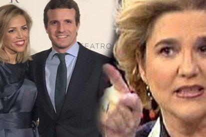 La machista de Pilar Rahola ataca a Pablo Casado criticando la forma de vestir de su mujer