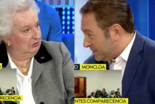 Soberano corte de Pilar de Borbón a Castillón por meter las narices en el divorcio de Cristina e Iñaki