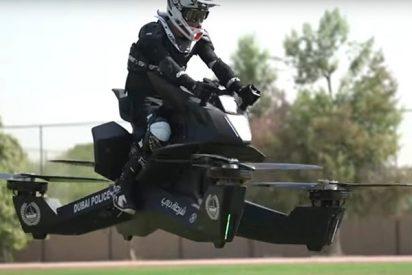 La Policía de Dubái combate el crimen desde el aire con sus motos voladoras