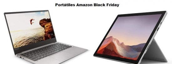 Chollos portátiles Black Friday de Amazon 2019