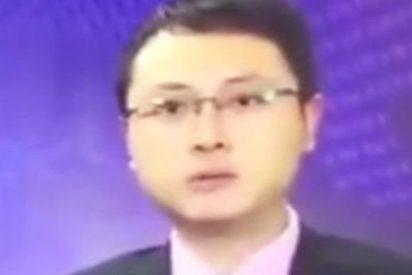 Este presentador chino continúa tranquilamente la retransmisión tras un terremoto en directo