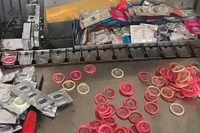 Desarticulan una red de falsificación y reciclaje de condones¡500.000 cajas de preservativos son de la marca Durex!