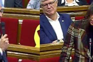 El independentista Quim Torra va de listillo con Inés Arrimadas y se come el 'zasca' de su vida