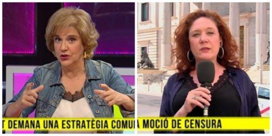 Las racistas y endemoniadas Fallarás y Rahola insultan en la golpista TV3 a Abascal y a Extremadura