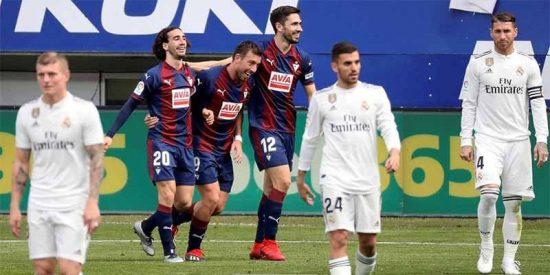 Eibar 3 -Real Madrid 0: Bochorno del equipo de Solari que juega el peor partido del año