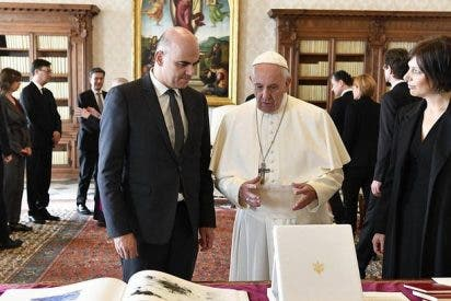 El Papa recibe al presidente suizo, Alain Berset