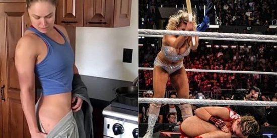 Ronda Rousey muestra, en su tonificado cuerpo, las heridas causadas por una paliza en la WWE