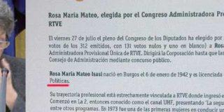 """¡Vaya bochorno! Rosa María Mateo: """"No soy licenciada en Ciencias Políticas...y nunca he dicho que lo fuera"""""""