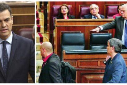 Sánchez, estos camorristas que escupen a tu ministro son los caseros que te dejan vivir en La Moncloa