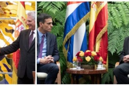 """Pedro Sánchez presume de su viaje a la dictadura cubana y Twitter le masacra: """"¡Vividor!"""""""