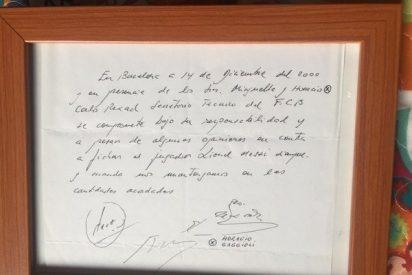 """Quién tiene la célebre servilleta donde Messi firmó el primer """"contrato"""" con el Barcelona"""