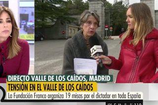 La franquista Pilar Gutiérrez, pletórica este 20-N, revuelca a Ana Terradillos (SER) por decir que la tumba de Franco no ha sido 'profanada'