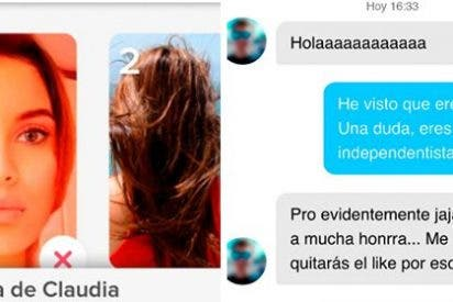 La genial historia de la chica de Tinder que consiguió que un 'indepe' acabase convirtiéndose al españolismo con tal de mojar