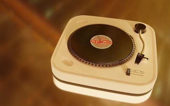 Tocadiscos vintage de marca