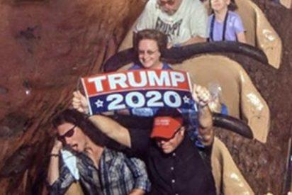 Disney prohíbe la entrada a un hombre que mostró un cartel a favor de Trump en una montaña rusa