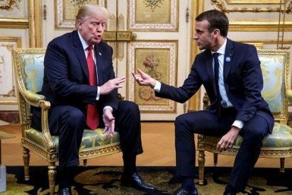 """Zasca de Trump a Macron: """"Estaban aprendiendo alemán en París antes de la intervención de EEUU"""""""