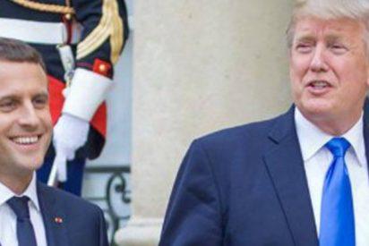"""Trump ataca a Macron con este polémico argumento: """"En París empezaban a aprender alemán antes de que EE.UU. apareciera"""""""