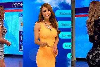 """Yanet García, """"la chica del tiempo más sexy del mundo"""", posa sin ropa de cintura para abajo"""