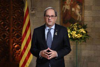 El desafiante escupitajo del apóstol Torra a todos los españoles desde su púlpito de TV3