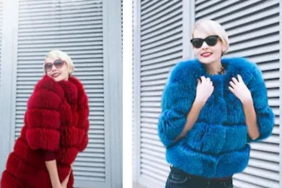 Abrigos y chaquetas de pelo sintético,