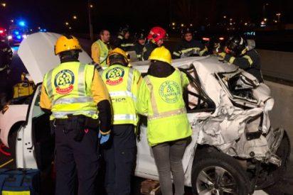 Brutal accidente en la M-30 de Madrid con el fatal resultado de un muerto y 8 heridos
