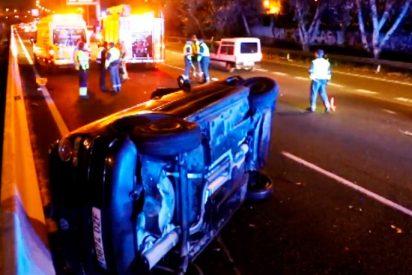 Una agresión machista provoca un accidente de tráfico que pudo acabar en tragedia
