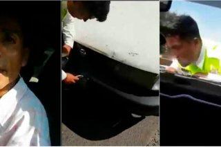Así atropellan a los policías que intentan controlar los robos de coches en México
