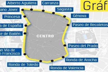 Las cifras de Madrid Central: el tráfico en Gran Vía cae un 30%, pero la contaminación sube un 63%