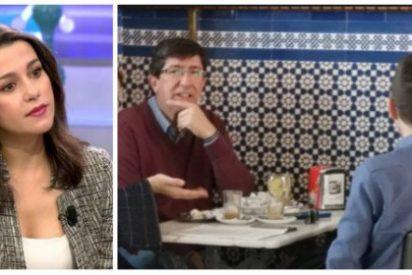 """Así desactivó Arrimadas al insustancial Marín: """"Todo el día criticando a Podemos y ahora les invitamos a merendar"""""""