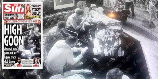 Pillan a jugadores del Arsenal consumiendo drogas
