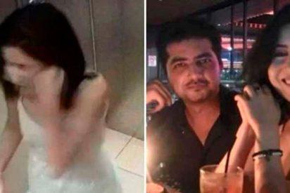 Pillan a esta mujer pegándose una paliza a sí misma para denunciar a su marido por maltrato