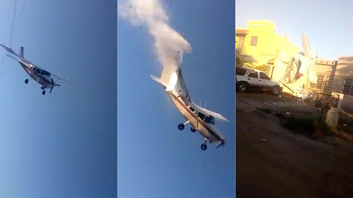 México: El brutal choque de una avioneta contra una casa deja 4 muertos